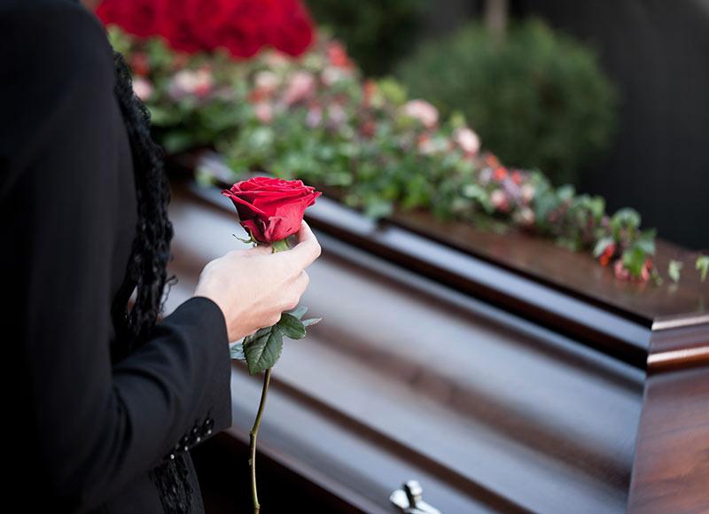 recueillement enterrement